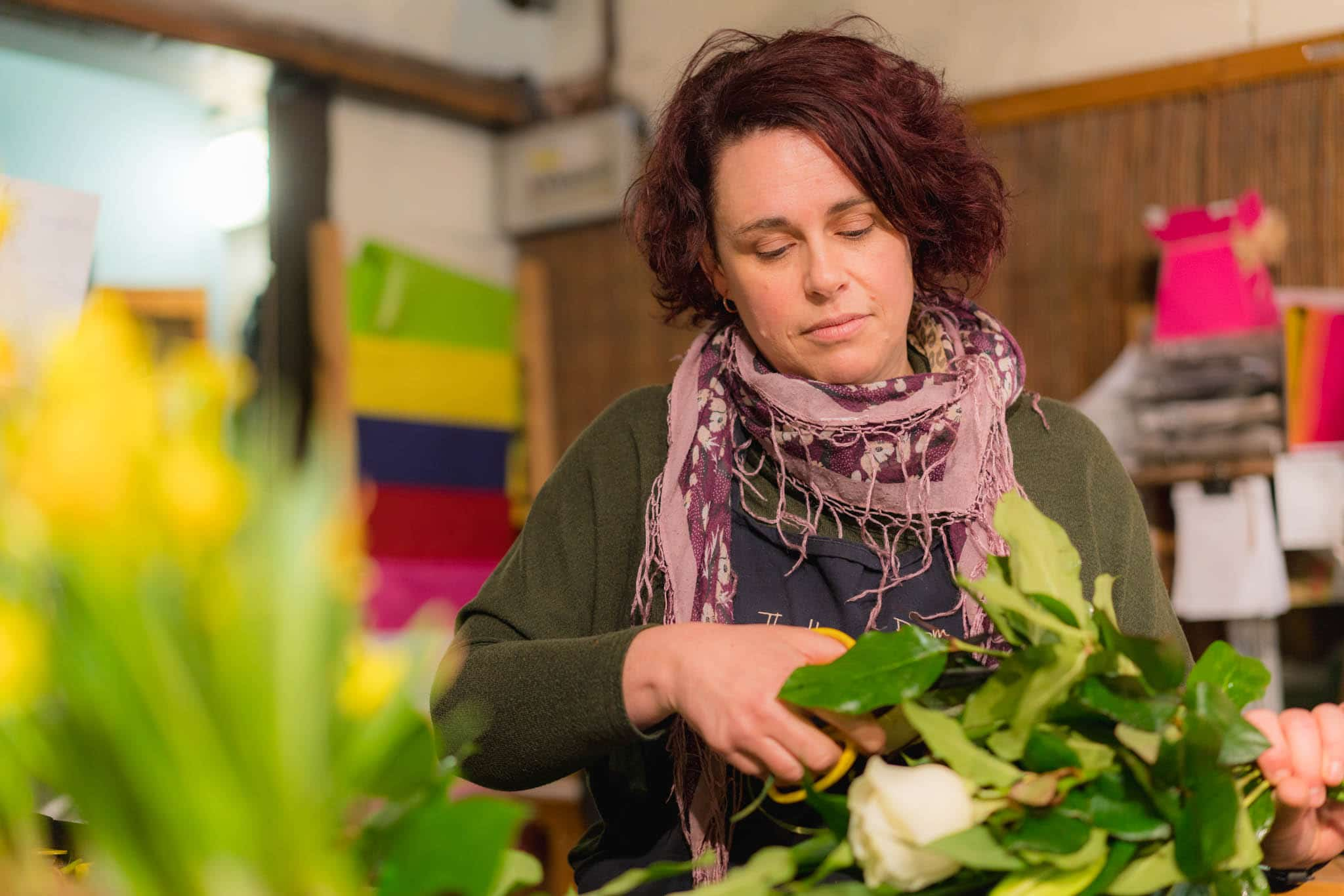 Chamber of Commerce membership business, woman working in florist