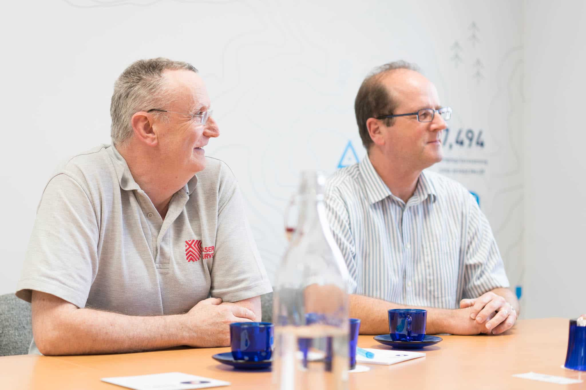 Two men sat at a table on one of the Chamber bespoke training courses