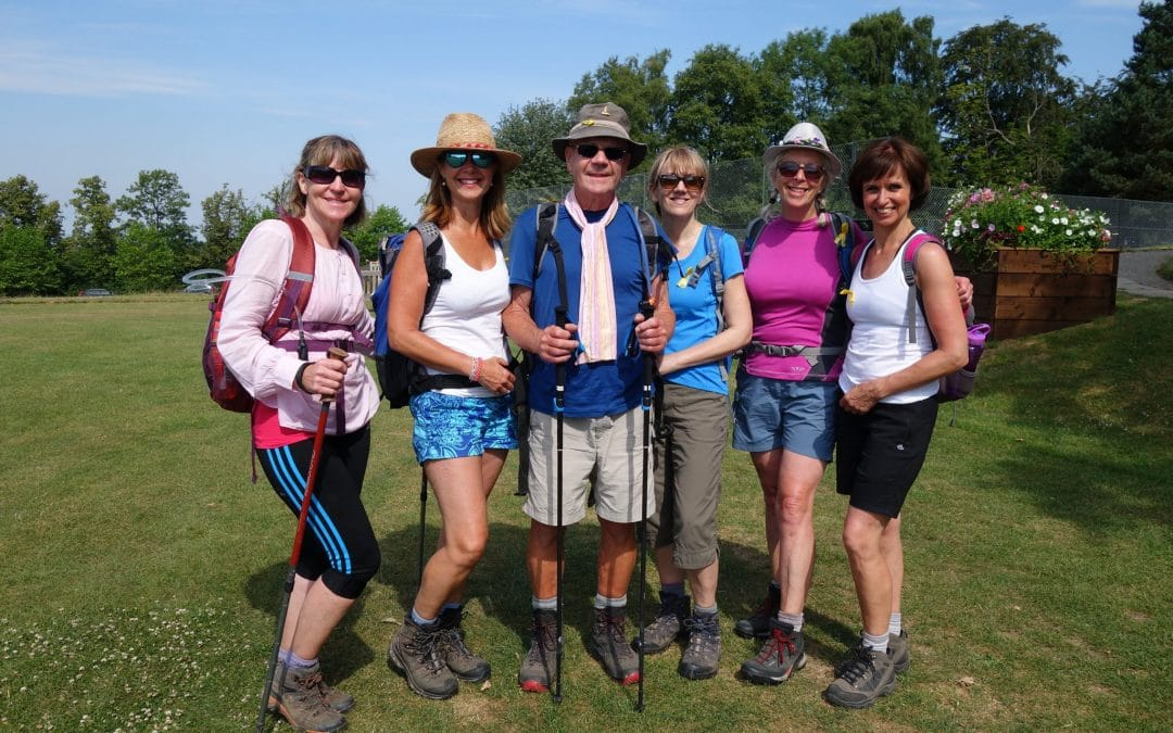 Extra walkers take on challenge despite the heat
