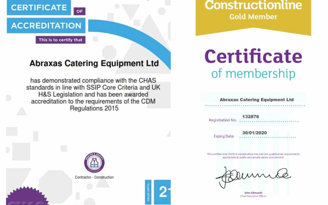 Abraxas celebrate CHAS & Gold Constructionline accreditation