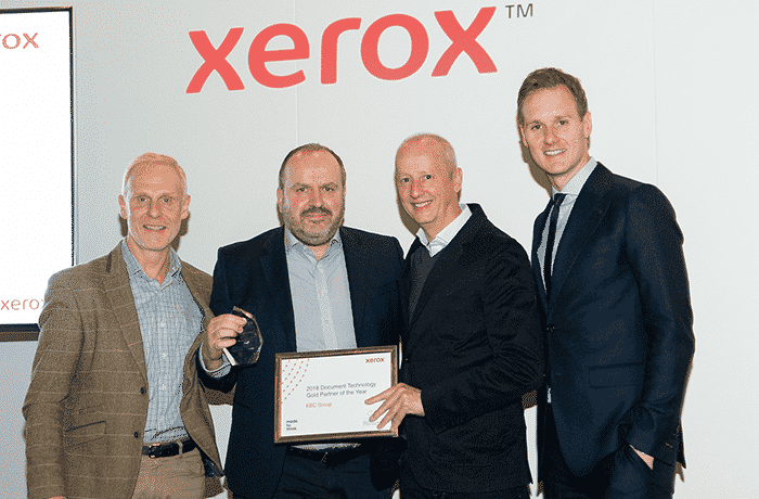 EBC Group awarded Xerox Partner of the Year award