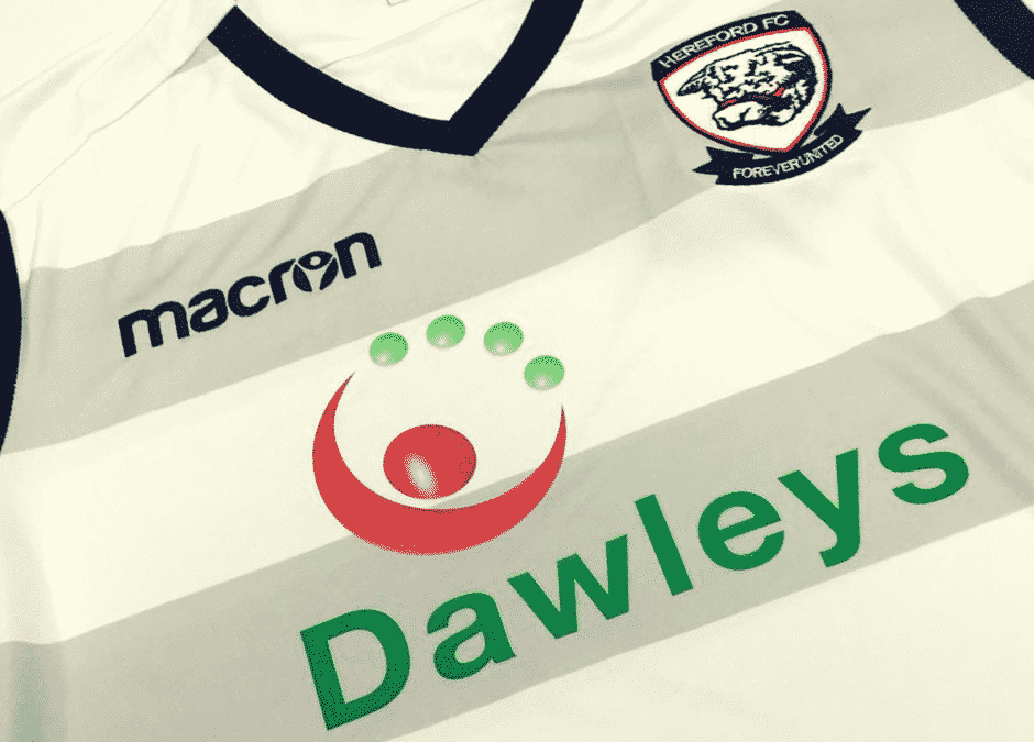 Dawleys Revealed as New Hereford FC Shirt Sponsor