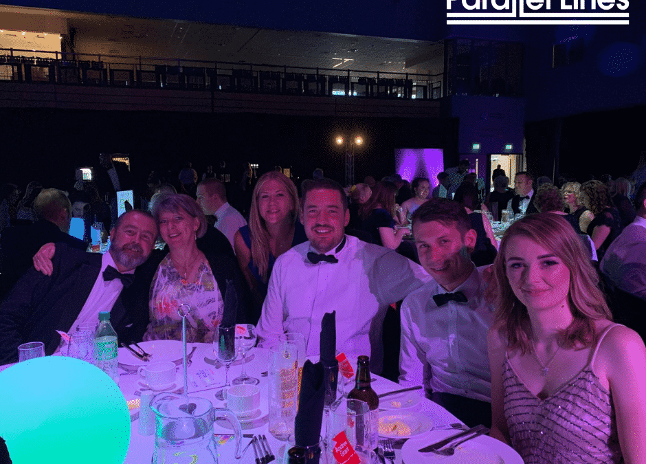 Parallel Lines team attend the Worcestershire Education Awards