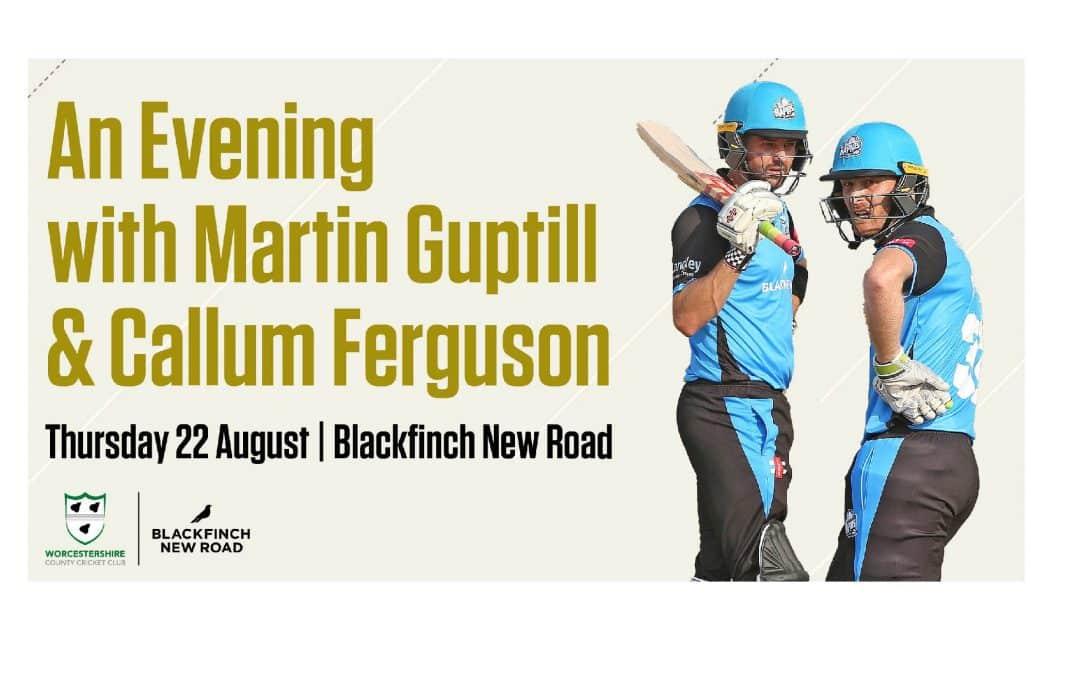 An evening with Martin Guptill and Callum Ferguson