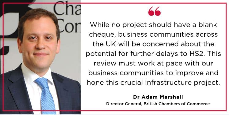 BCC comments on announcement of HS2 review