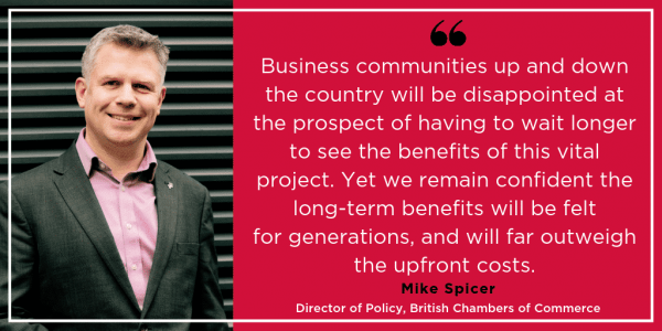 BCC comments on DfT statement on HS2