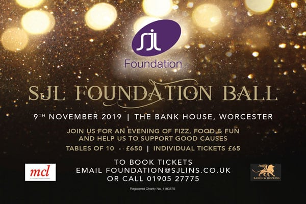 Last few tickets left for The SJL Foundation's first ever black tie ball