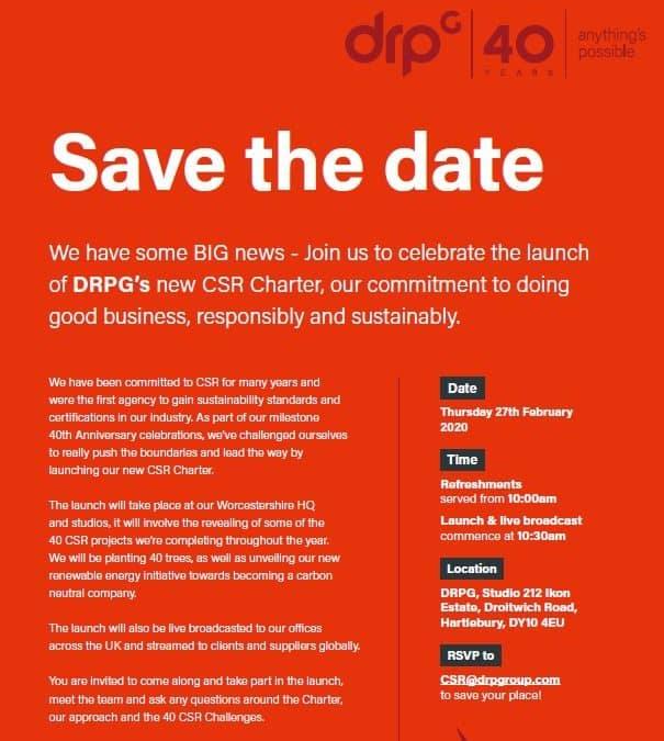 DRPG CSR Charter Launch Event