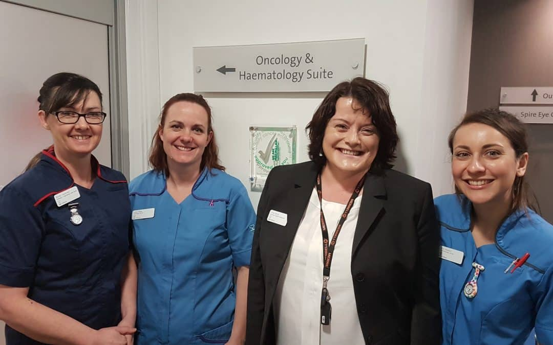 Spire South Bank Hospital awarded the Macmillan Quality Environment Mark