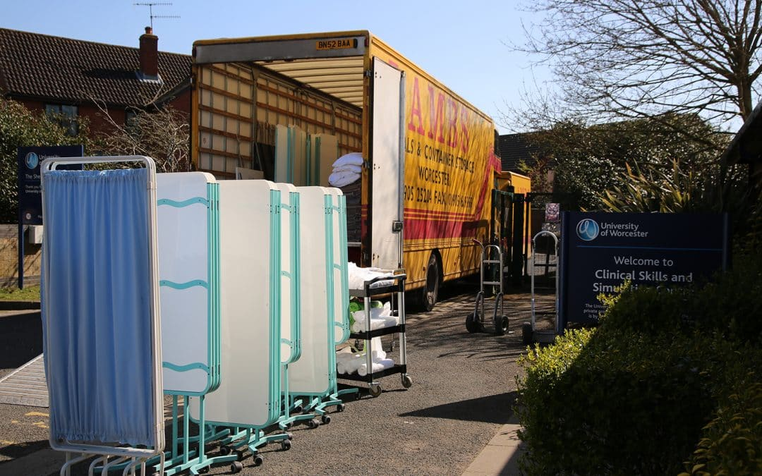 Vital healthcare equipment from University of Worcester makes its way to the NHS