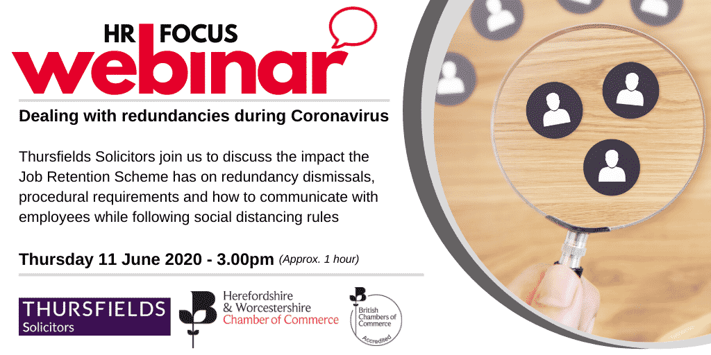 Webinar: Dealing with redundancies during Coronavirus