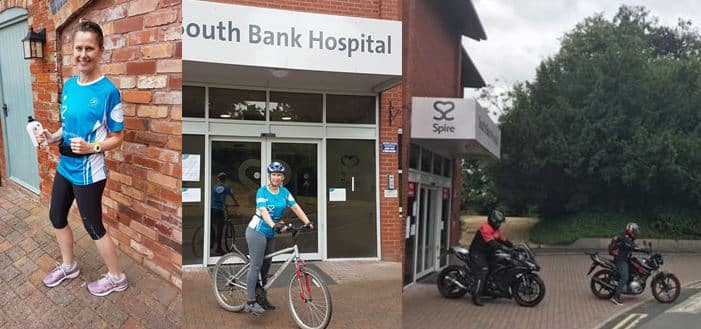 Spire South Bank Hospital find 90 ways to get local charities smiling