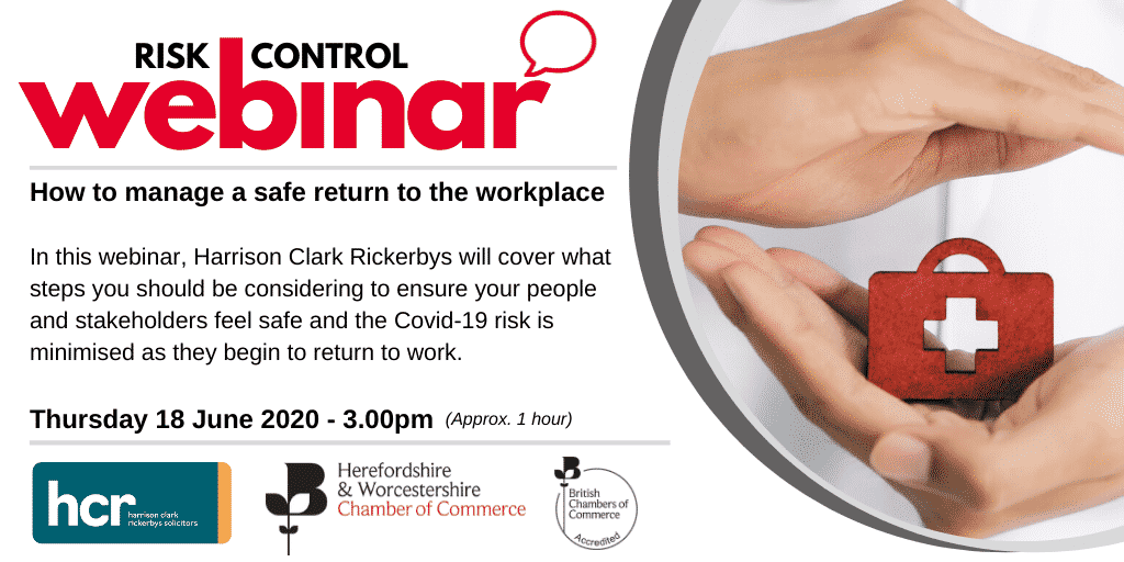 Webinar: How to manage a safe return to the workplace post Covid-19
