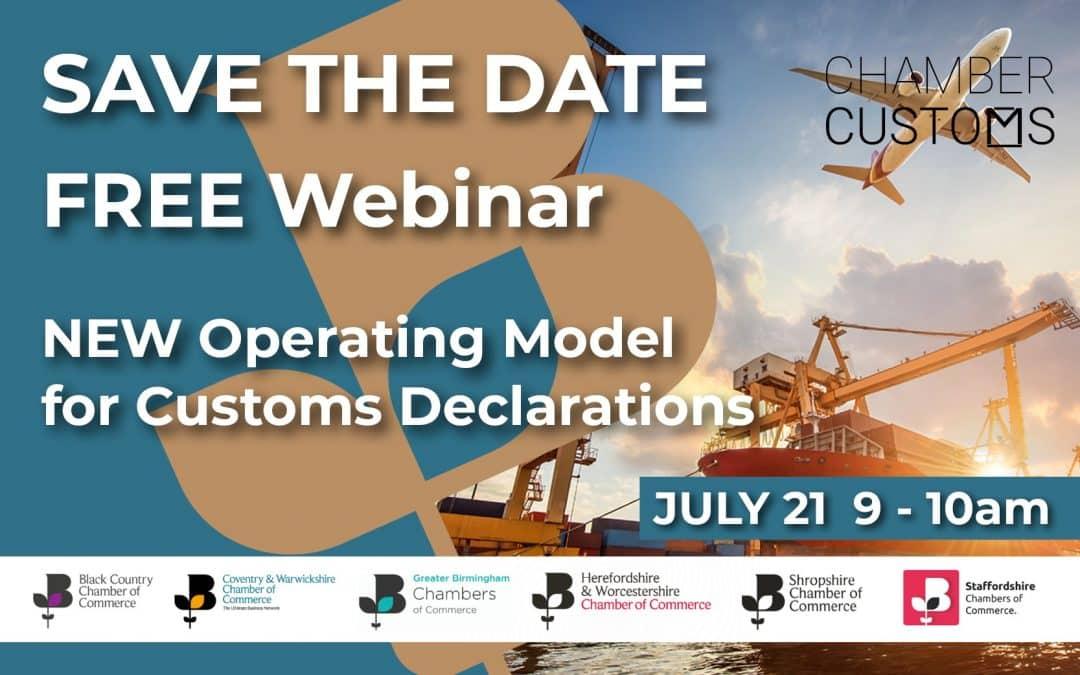 Webinar: New operating model for customs declarations