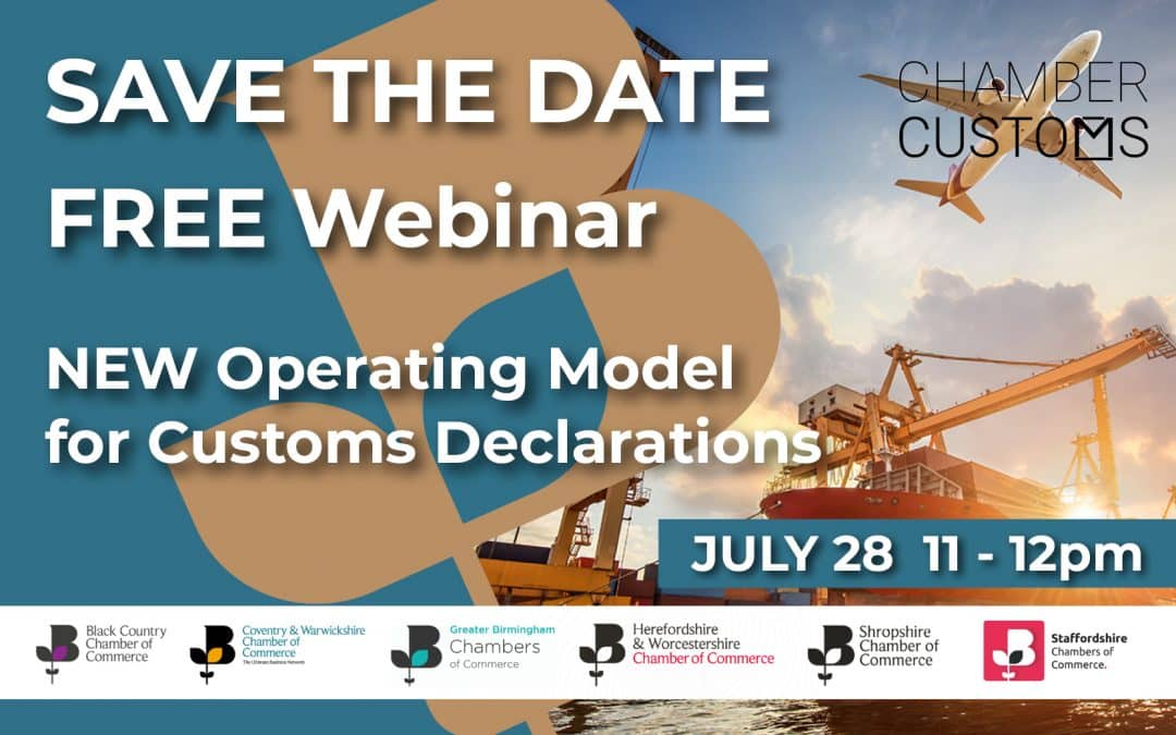 Webinar: New operating model for customs declarations