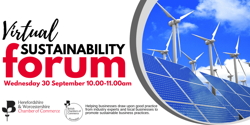 Book your place on the Virtual Sustainability Forum