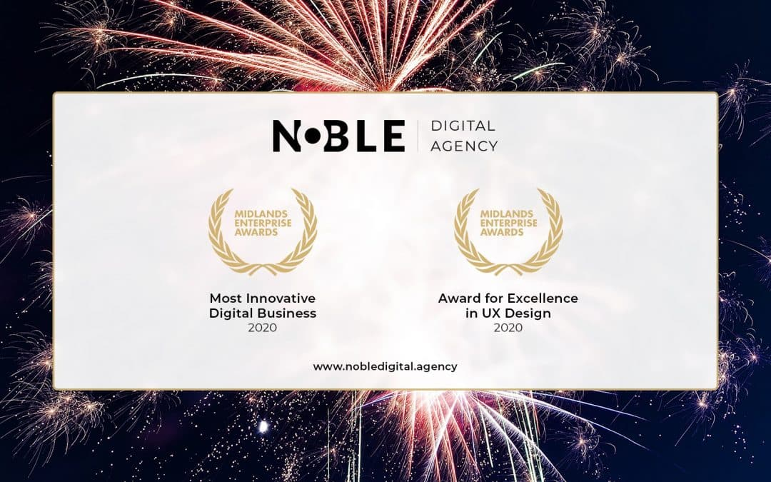 Stourport Agency Noble Digital Celebrates Double Award Win For Innovation & Excellence