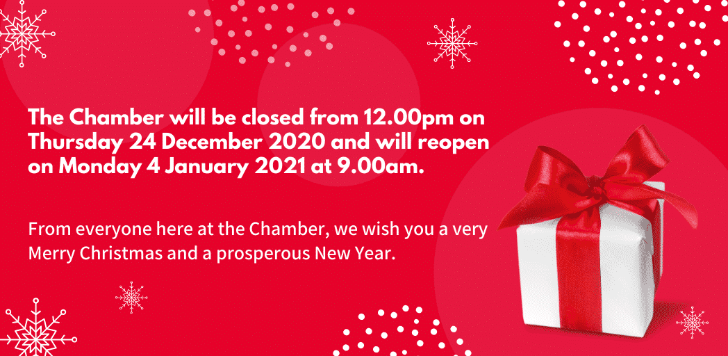 Our Christmas closing and reopening times