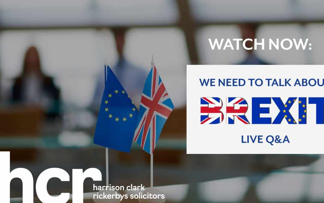 Webinar: We need to talk about Brexit – Live Q&A