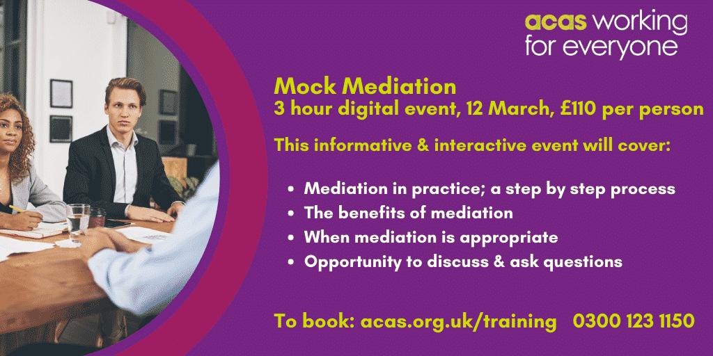 Digital Mock Mediation, 12 March 2021, 10:00-13:00