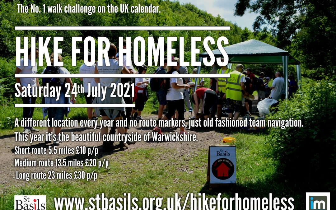 St Basils 'Hike for Homeless' Will you be stepping up to the challenge?
