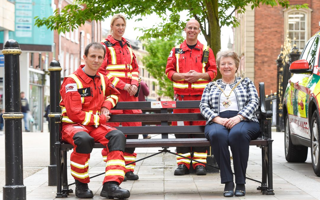 Commemorative Bench Gifted To Lifesaving Charity