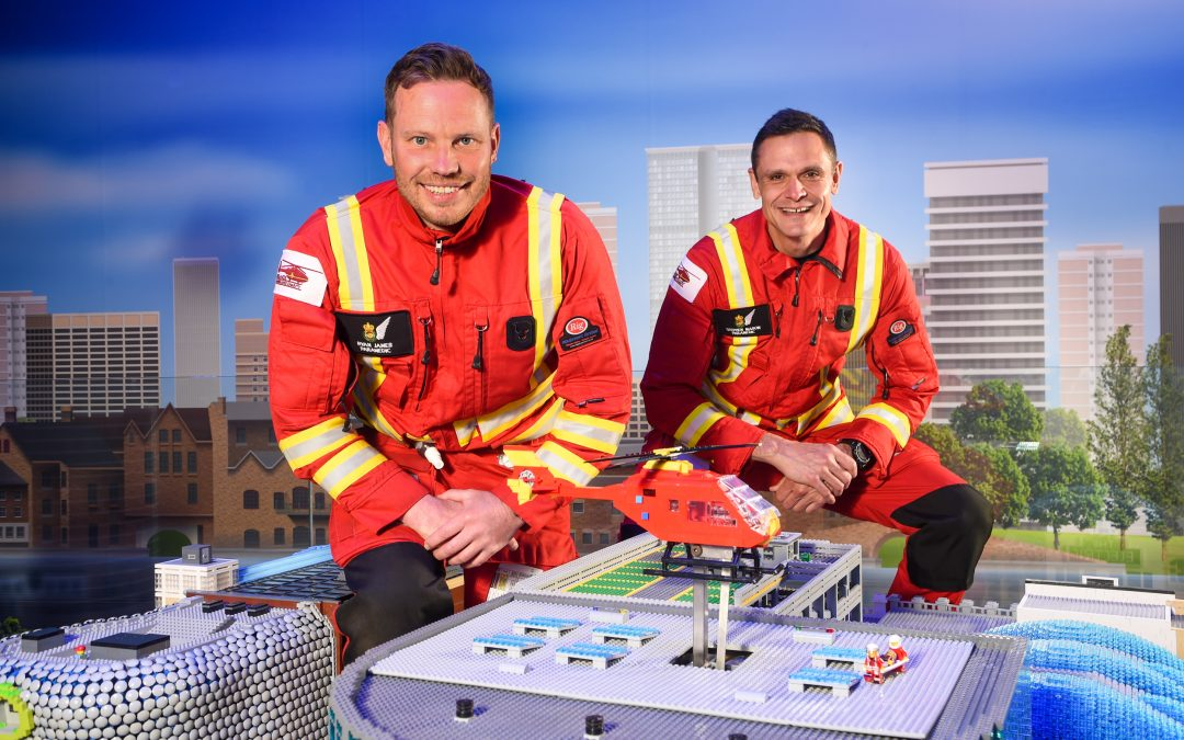 Mini Medics and Midlands Air Ambulance Fly To Birmingham City Centre