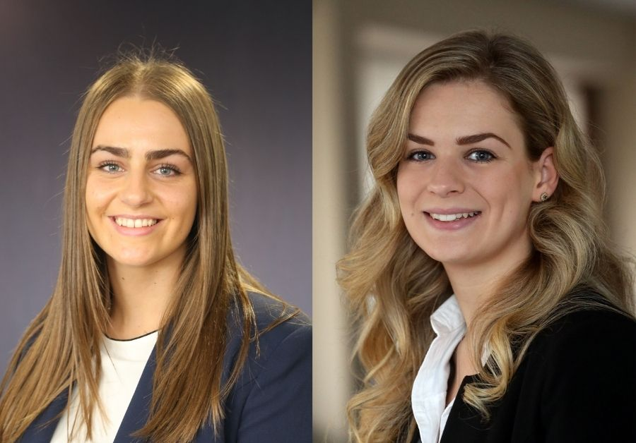 Two newly-qualified solicitors flourishing at Herefordshire law firm