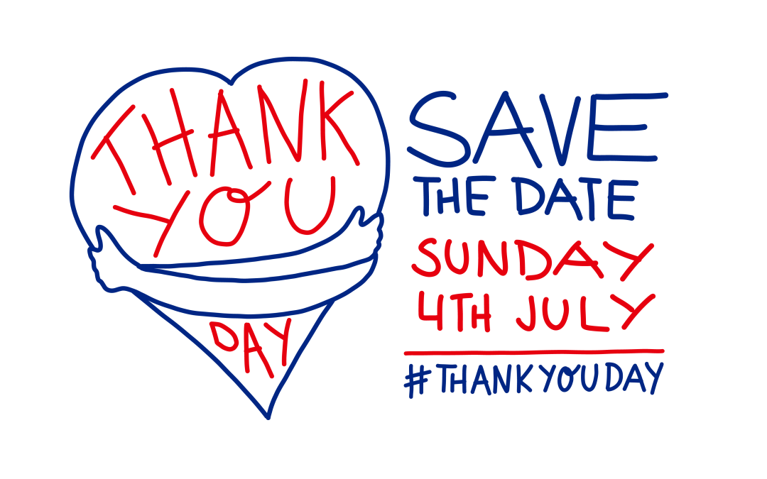 Take part in national 'Thank You Day' – 4 July