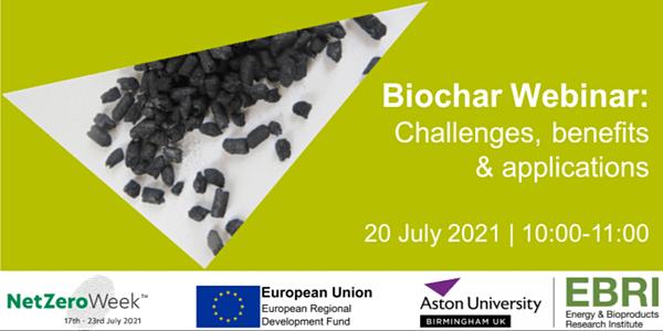 EBRI to host Biochar webinar