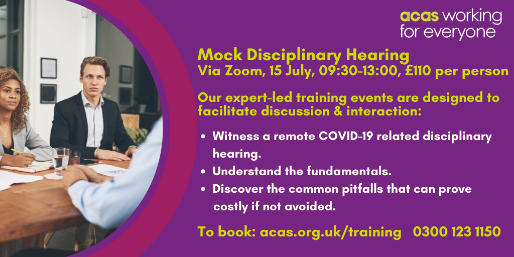 Mock Disciplinary Hearing, 15 July