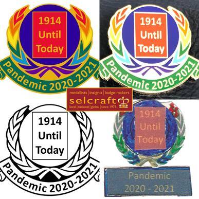 Remember them all – Lapel Badge designed and produced by Selcraft UK