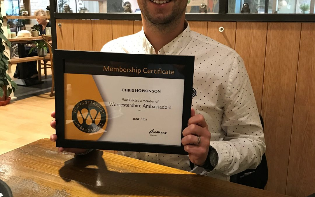 NEWLY ELECTED CHRIS HOPKINSON  JOINS THE WORCESTERSHIRE AMBASSADORS