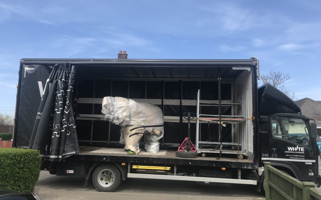 Top Secret Elephant on its journey to Worcester